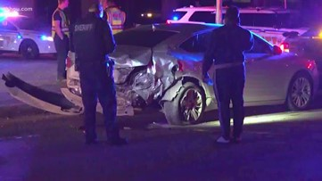 Suspected drunk driver slams into car, sheriff's deputy injured, HCSO says