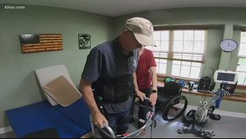 Paralyzed veteran is walking again thanks to exoskeleton