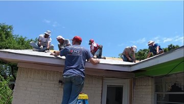 'It's a good feeling': High school students give up summer break to repair homes