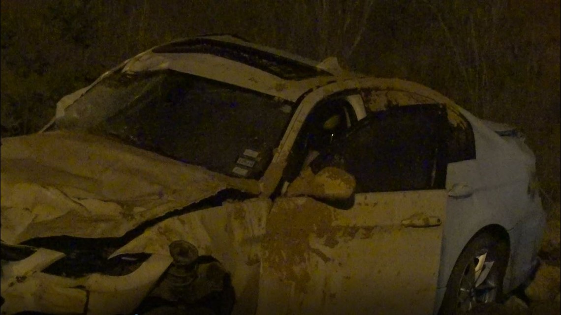Woman found dead after car crashes into ditch on Grand Parkway