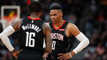 Rockets fall to Nuggets on somber day