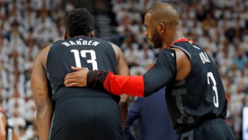James Harden, Chris Paul had verbal altercation following Game 6 loss to Warriors, report says