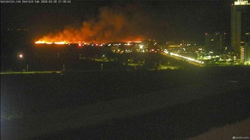 Brush fire burns about 20 acres on Galveston Island