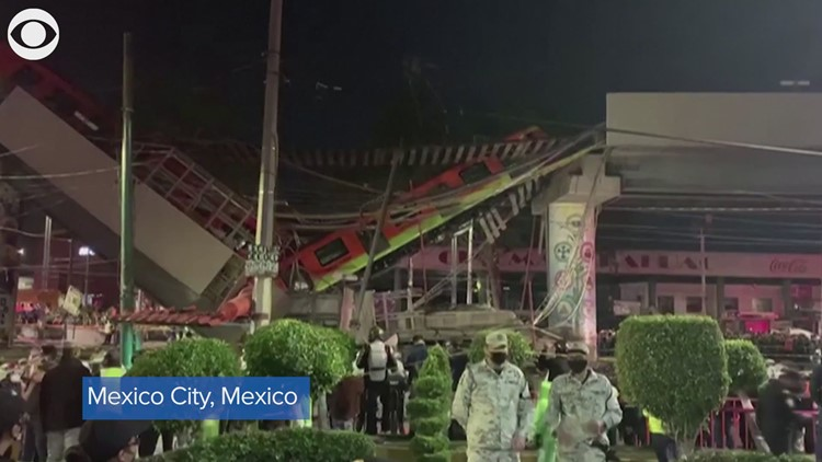 Deadly metro rail collapse in Mexico City