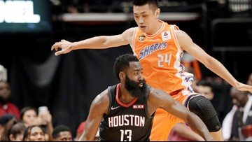 Harden has triple-double as Rockets down Sharks 140-71