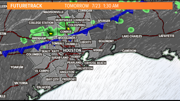 A cold front in July?! It arrives Tuesday morning for the Houston area