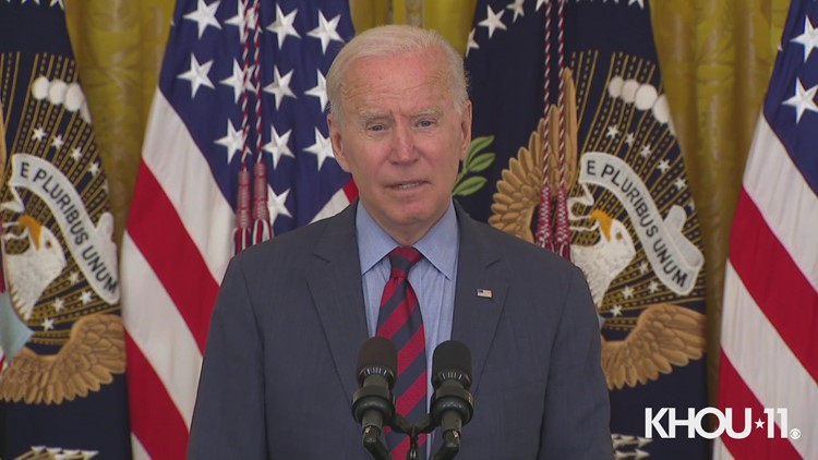 President Biden calls out governors in Texas, Florida for restricting local leaders from imposing mask mandates