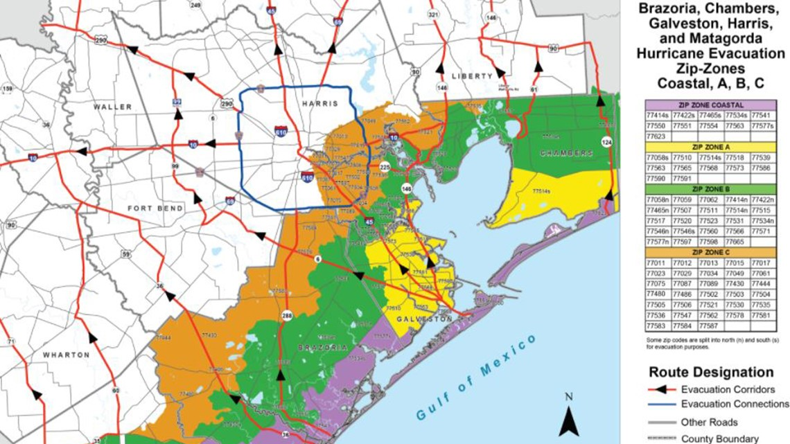 Hurricane evacuations: Know when and where to go by zones, ZIP codes