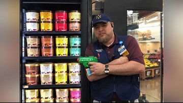 This Texas Walmart has an 'armed guard' watching over the Blue Bell freezer