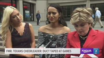 Former Texans Cheerleader claims she was duct-taped during game