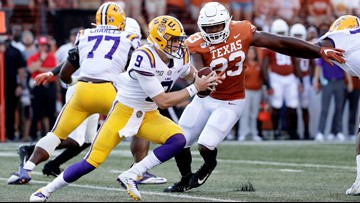 Burrow's 4 TD passes lead LSU over Texas 45-38