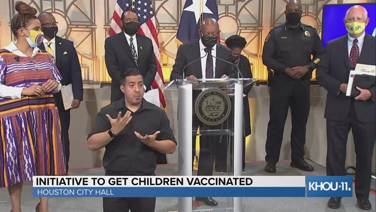 Houston Mayor Sylvester Turner announces Super Saturday Vaccination Days