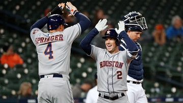 Astros extend win streak to 6 with 8-1 win over Tigers