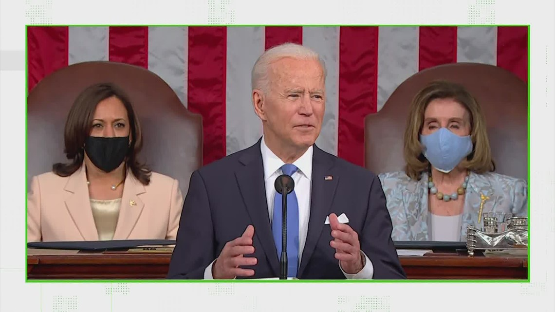 VERIFY: Fact-checking President Biden's first address to a joint session of Congress