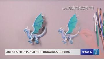 Artist's hyper-realistc drawings go viral