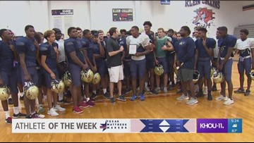 Athlete of the Week: Klein Collins' Isaiah Spiller
