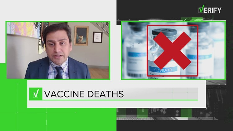 VERIFY: COVID vaccine can't give you COVID; No credible reports of deaths due to vaccine