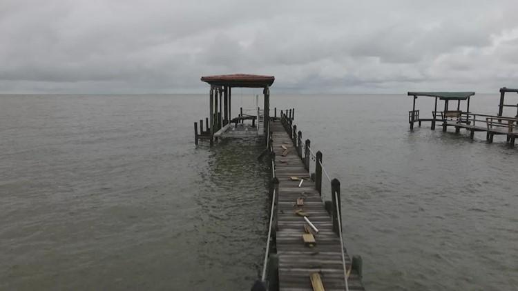 Nicholas leaves wind, water damage in Kemah, Clear Lake Shores