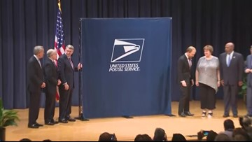 Raw Video: USPS honors former President George H.W. Bush with forever stamp