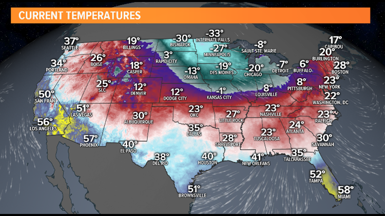 National arctic air in place
