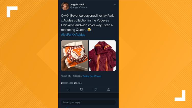 Popeyes/Ivy Park tweet