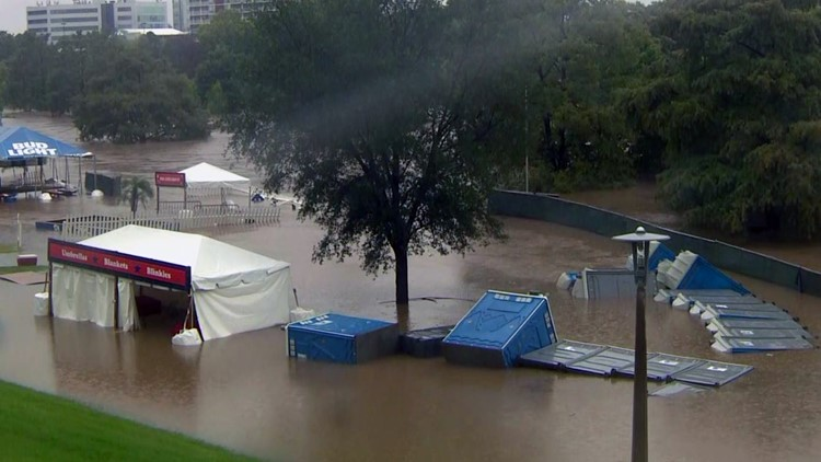 The Freedom Over Texas festival and concerts were canceled after floodwaters drenched Eleanor Tinsley Park.