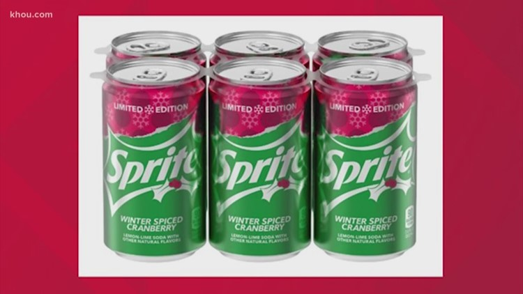 For a limited time, Coca Cola is selling Cinnamon Coke and Winter Spiced Cranberry Sprite