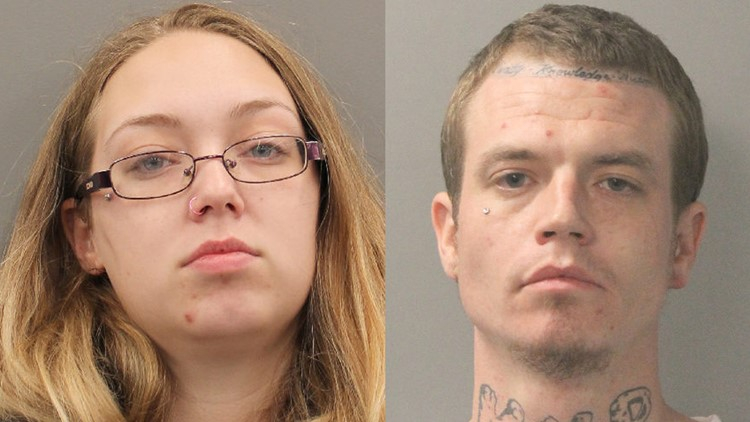 The sheriff's office later identified the toddler's mom and her boyfriend as 21-year-old Kimberly Cook and 29-year-old Anthony Blue