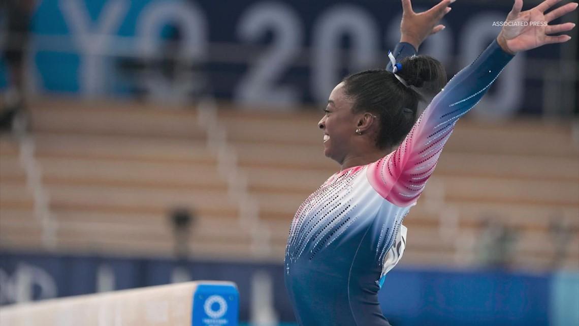 Simone Biles sticks landing in balance beam, wins Olympic bronze