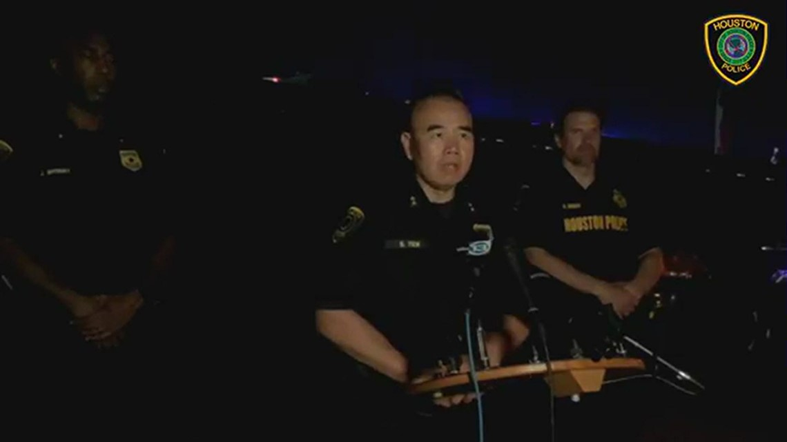 Raw: I-45 North crash and deadly shooting early Monday   Houston police statement