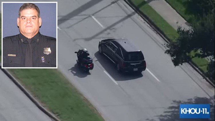 WATCH LIVE: Procession to funeral home for fallen HPD officer Bill Jeffrey