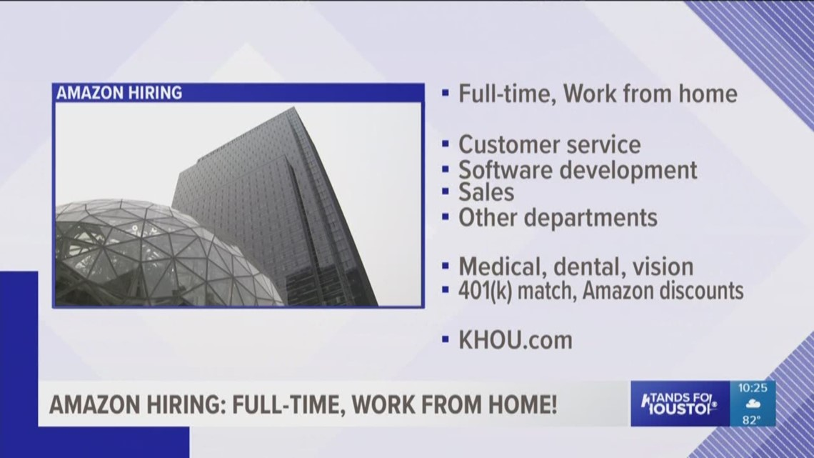 Amazon Hiring Full Time Work From Home