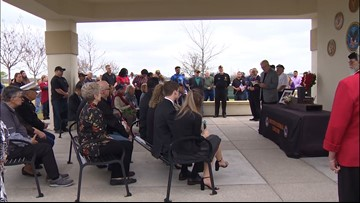Local veterans, community members come together for family at Marine's funeral