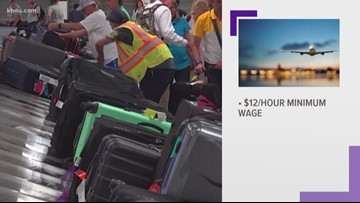 Mayor hikes wages for Houston airport workers