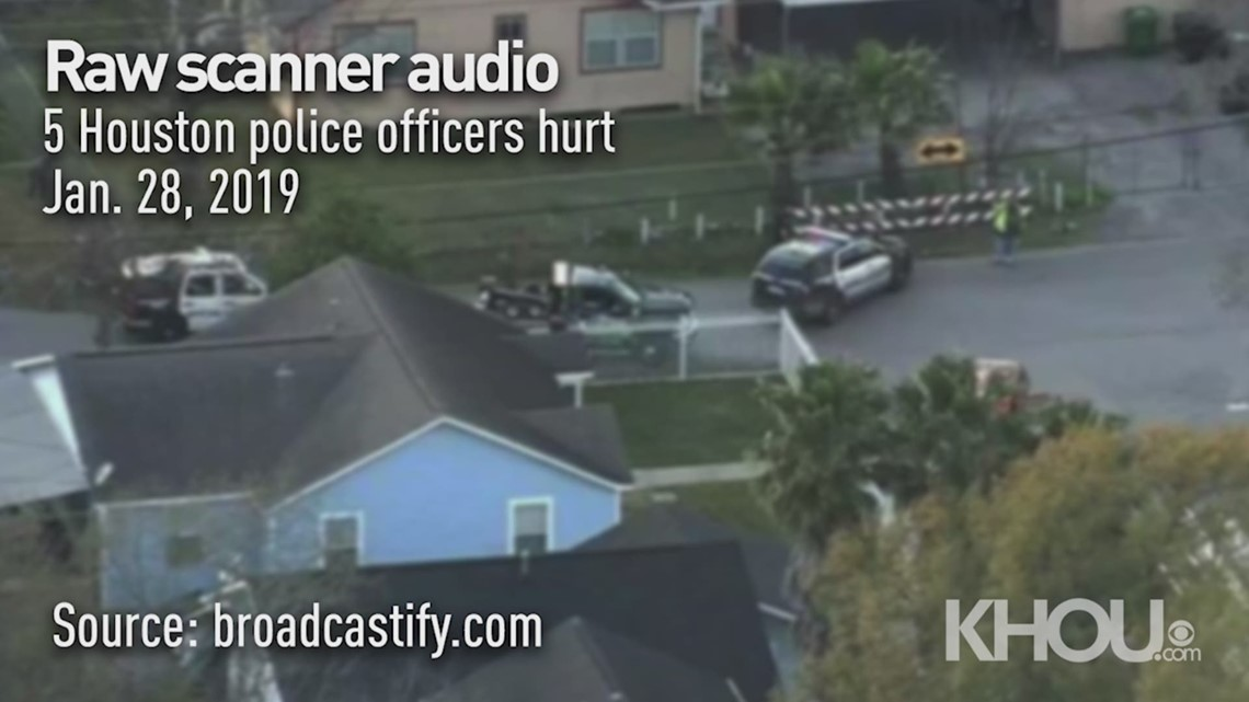 RAW SCANNER AUDIO: 5 HPD officer injured in shooting in southeast Houston