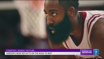 Harden's mom reflects on the road to MVP