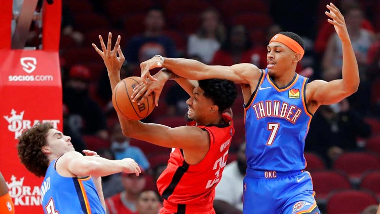 Wood helps Houston Rockets rout OKC Thunder 124-91 in home opener