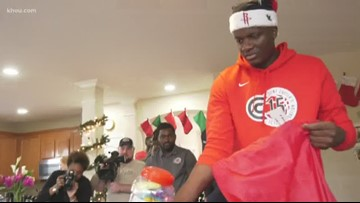 Houston Rockets' Capela, Westbrook spread holiday cheer to kids