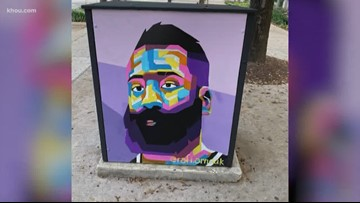 The story behind the Rockets street art outside the Toyota Center