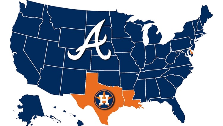 World Series map: Only three states are cheering for the Astros over the Braves. Whatever.