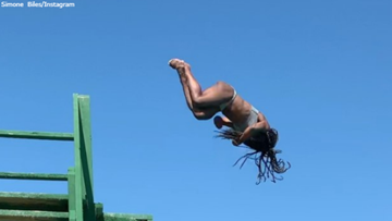 Video: Simone Biles is a ridiculously good diver, too!