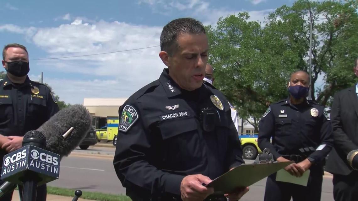 Acting Austin Police Chief Joseph Chacon updates Sunday's shooting