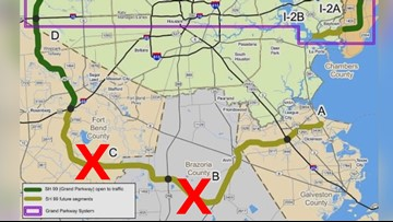 TxDOT could defund SH 99 and leave it as a semi-circle ... on map of highway 90 texas, map of highway 77 texas, map of highway 40 texas, map of highway 59 texas, map of highway 10 texas, map of highway 20 texas,