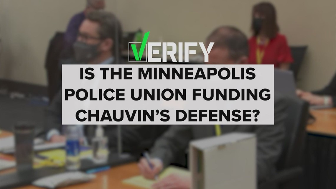 VERIFY: Who is footing the bill for Derek Chauvin's legal fees?