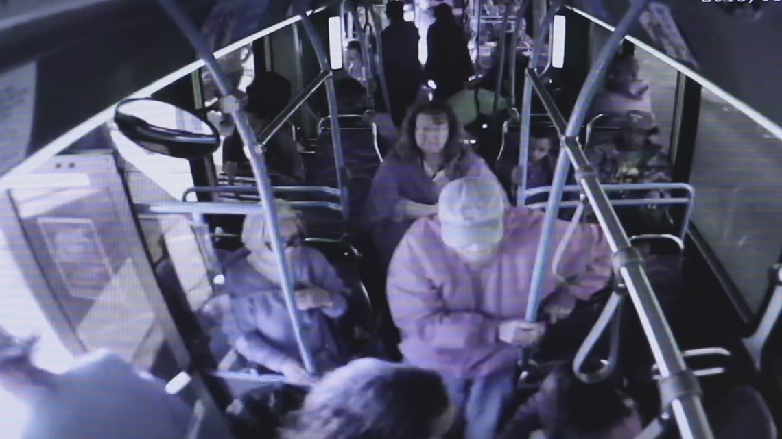 video shows woman pushing elderly man from las vegas bus he later died. Black Bedroom Furniture Sets. Home Design Ideas
