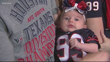 Is baby Texans fan bringing luck to the team?