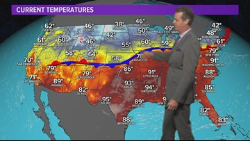 Tracking the arrival of Houston's first cold front of the fall season