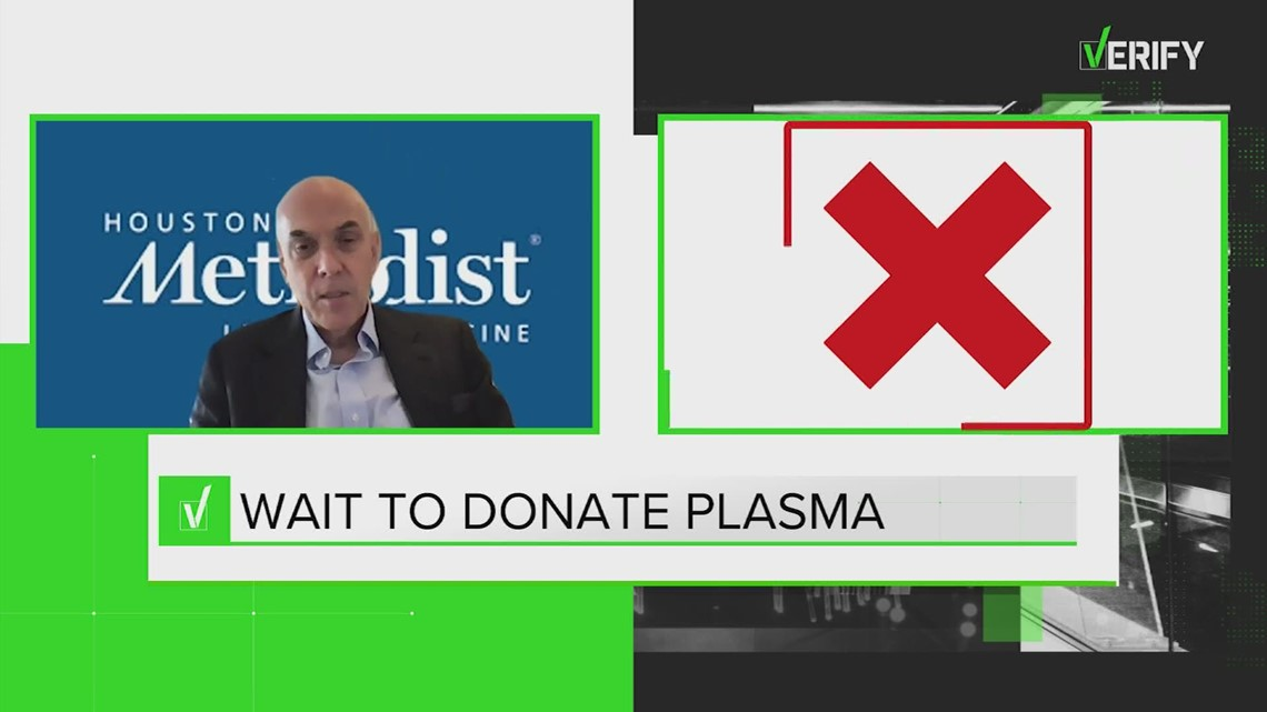 VERIFY: Yes, you can donate plasma after receiving the COVID-19 vaccine