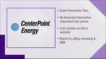 Centerpoint Phone Number >> Centerpoint Warns Of Scammers Targeting Customers Over The