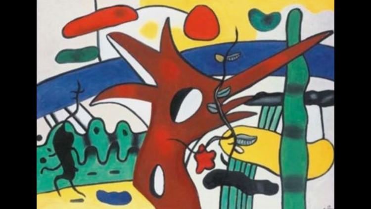 Paysage au coq rouge by Fernand Léger